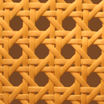 Natural-colored Plastic Cane Webbing