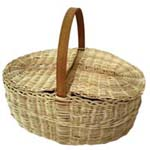 weaving large baskets