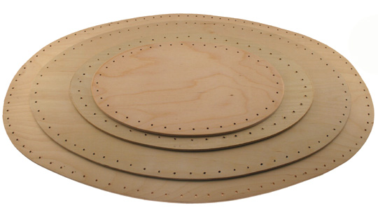 Oval Birch Plywood Bases