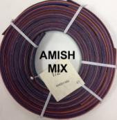 "1/2"" flat dyed reed in Amish mix"