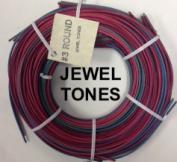 #3 round reed, jewel tones, 1/4 lb. coil
