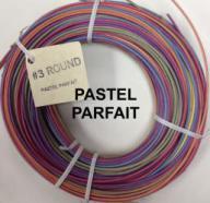 #3 round reed, Pastel Parfait mix, 1/4 lb. coil