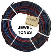 #3 round reed, Jewel Tones, 1/4 lb coil